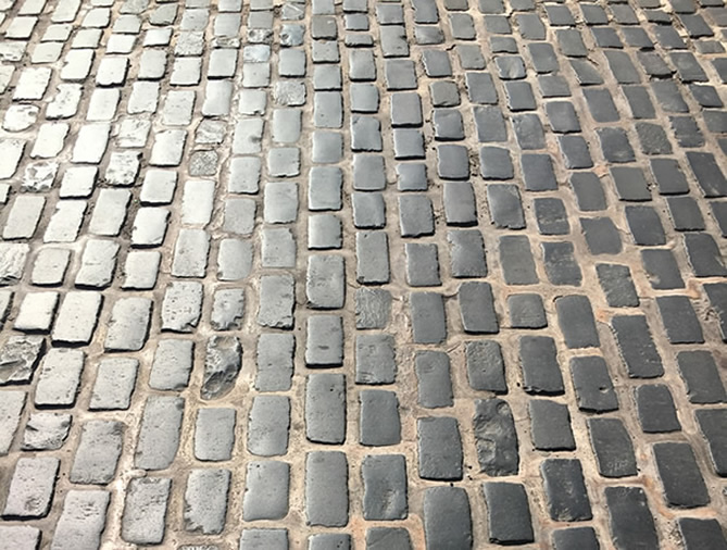 Cobbled streets of York