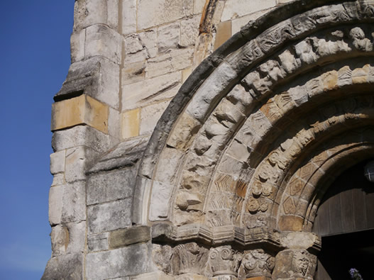 St Denys Church Norman Stonework
